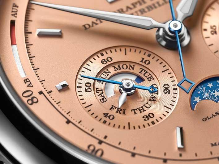 Cadran de la montre A. Lange & Söhne : Datograph Perpetual Tourbillon